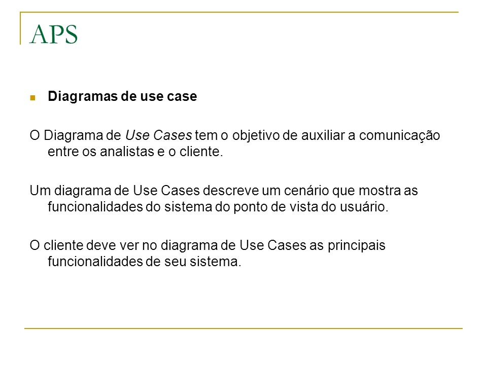 APS Diagramas de use case