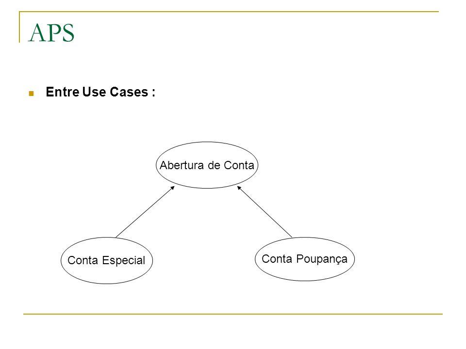 APS Entre Use Cases : Abertura de Conta Conta Especial Conta Poupança