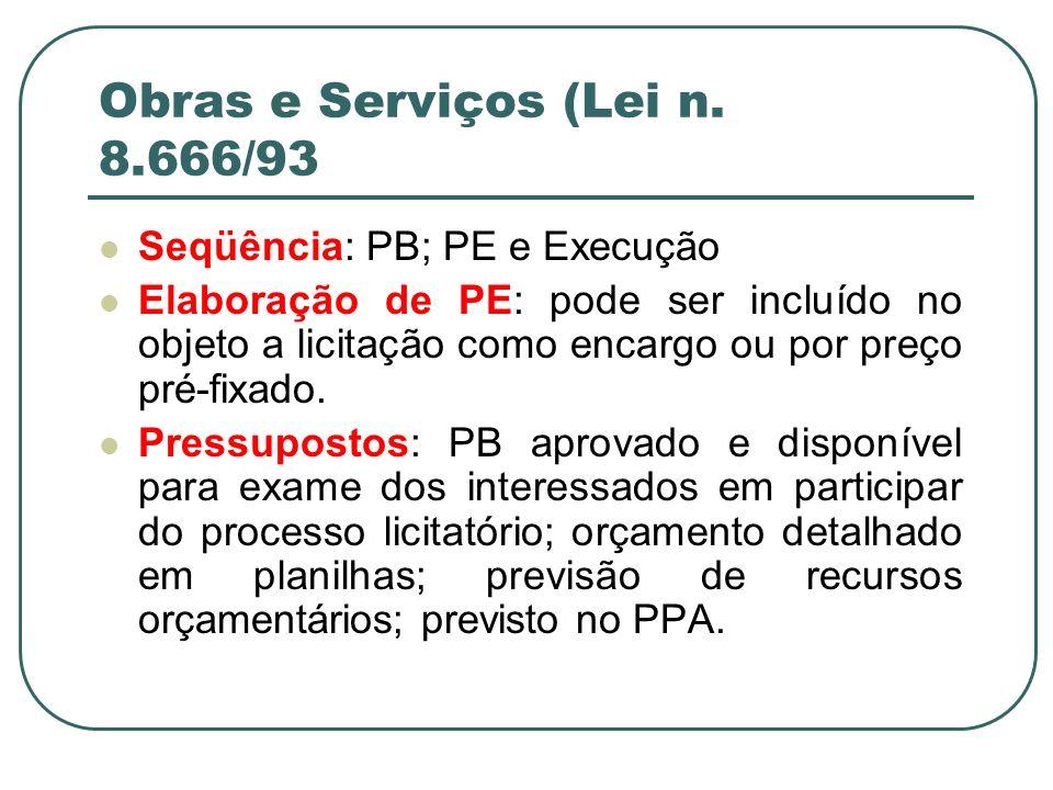 Obras e Serviços (Lei n. 8.666/93