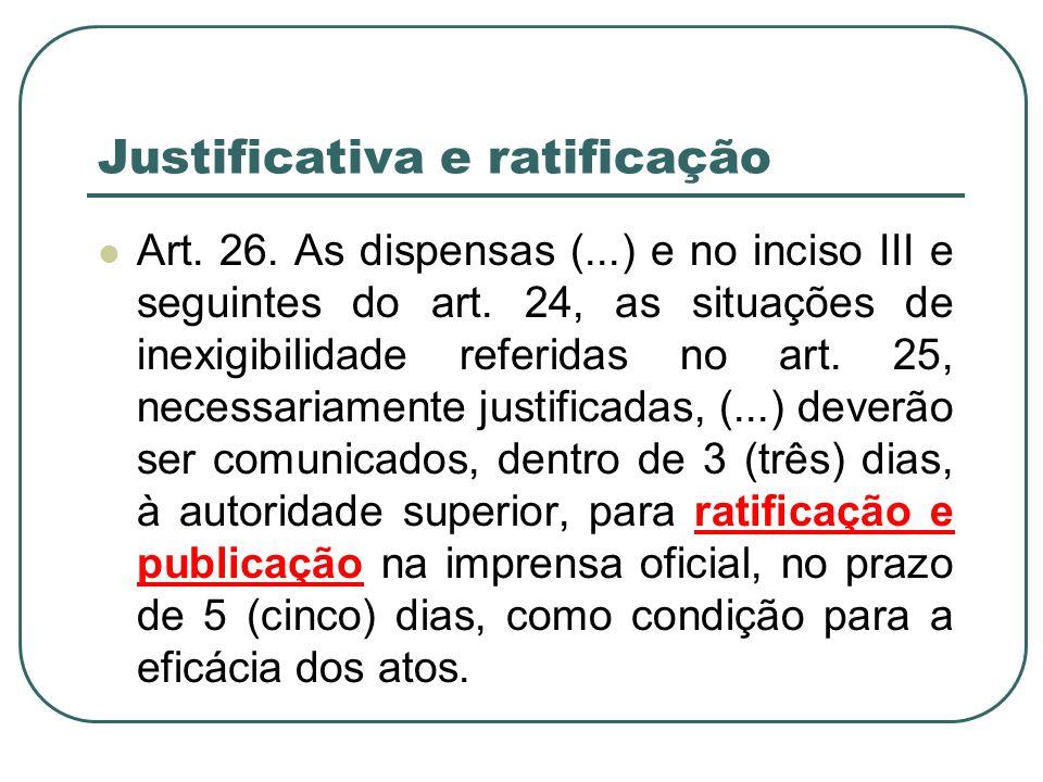 Justificativa e ratificação