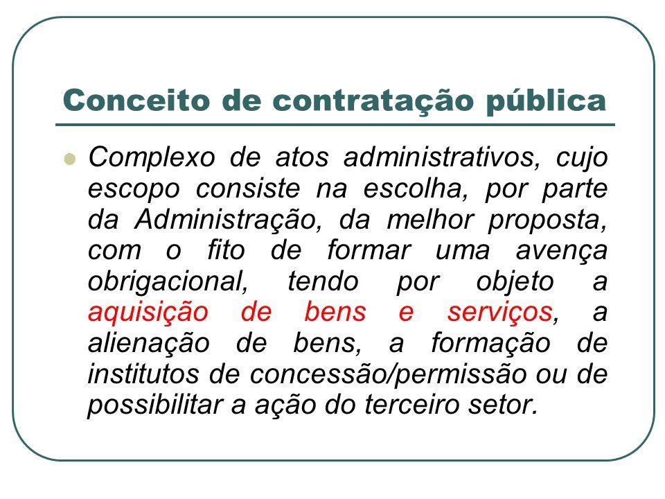 Conceito de contratação pública