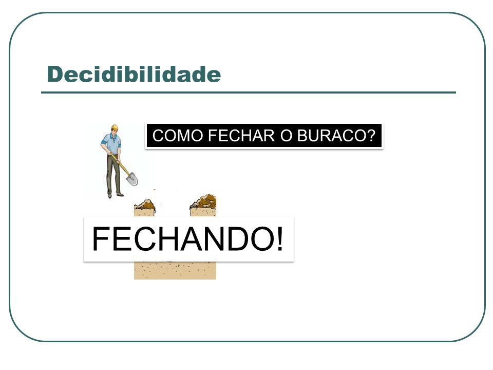 Decidibilidade COMO FECHAR O BURACO FECHANDO!