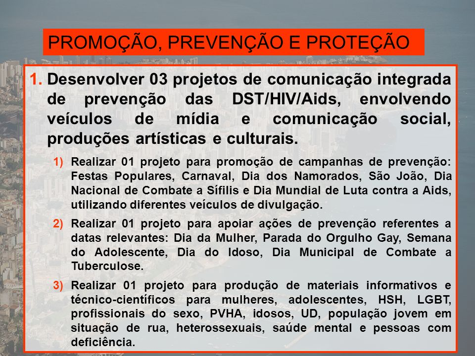 PROMOÇÃO, PREVENÇÃO E PROTEÇÃO