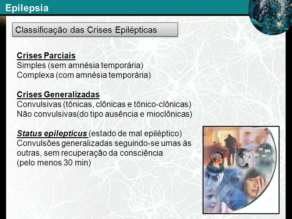 Epilepsia Classificação das Crises Epilépticas Crises Parciais