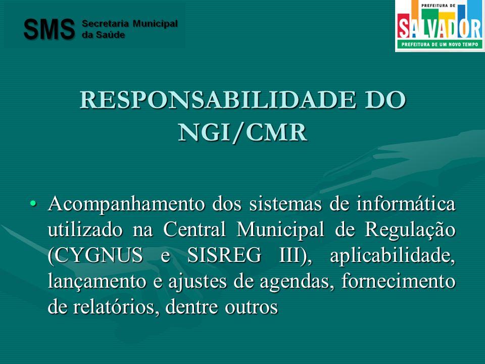 RESPONSABILIDADE DO NGI/CMR