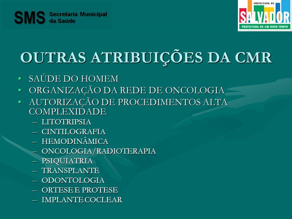 OUTRAS ATRIBUIÇÕES DA CMR
