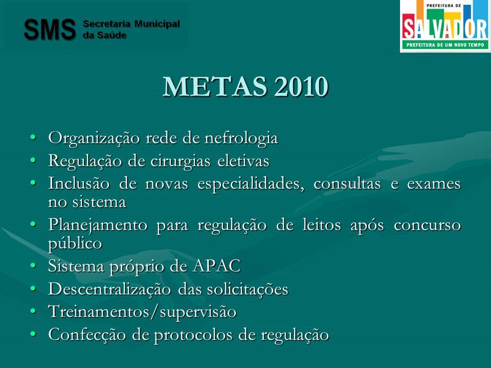 METAS 2010 Organização rede de nefrologia