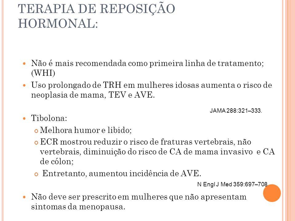 TERAPIA DE REPOSIÇÃO HORMONAL:
