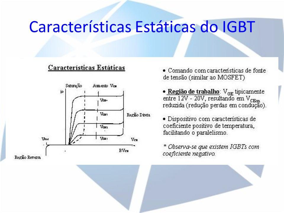 Características Estáticas do IGBT