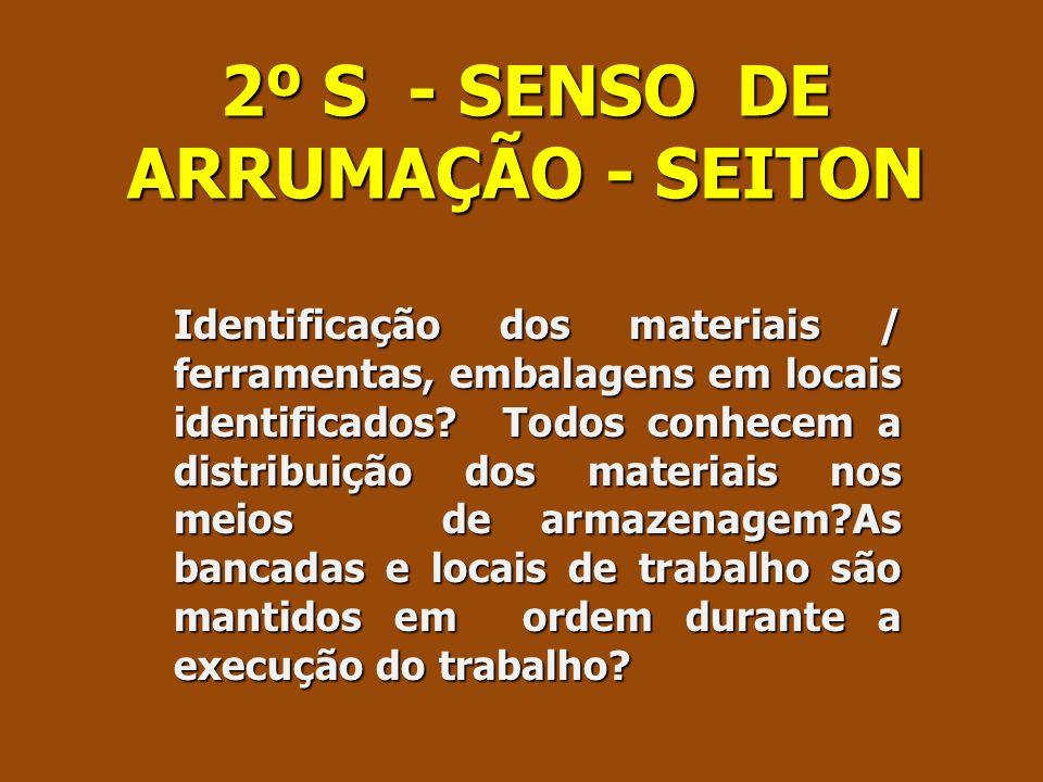 2º S - SENSO DE ARRUMAÇÃO - SEITON
