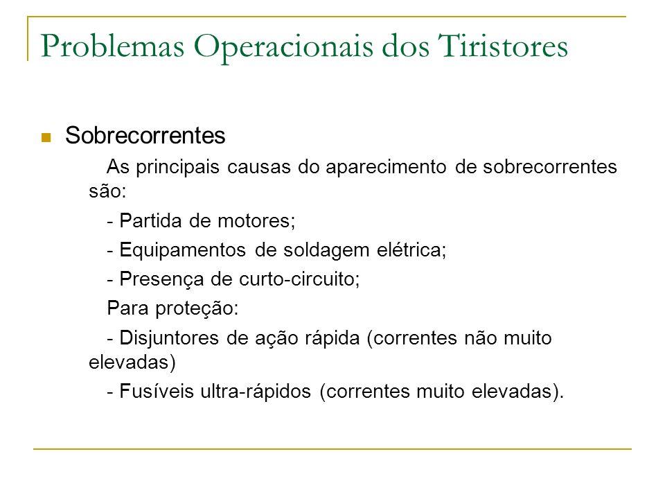 Problemas Operacionais dos Tiristores
