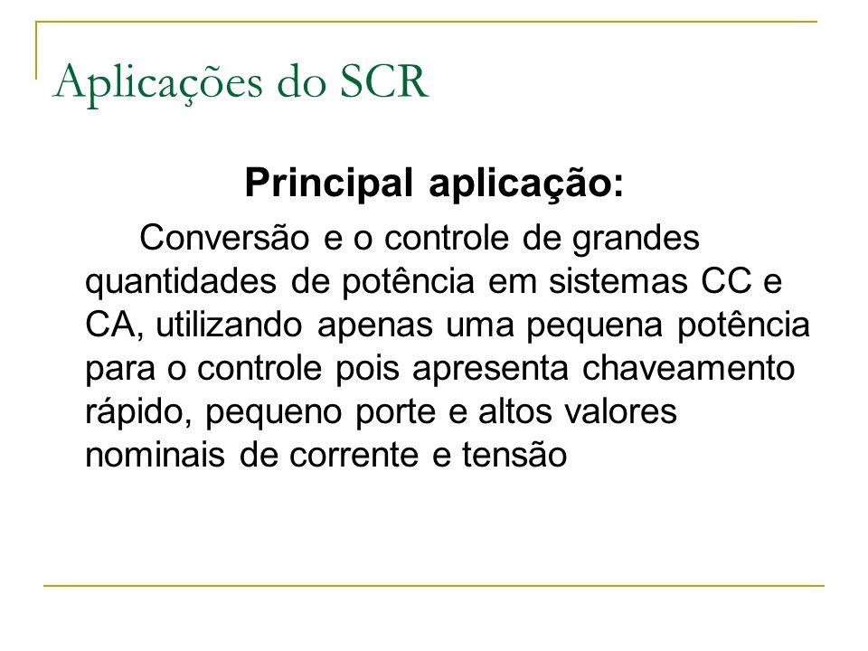 Aplicações do SCR Principal aplicação: