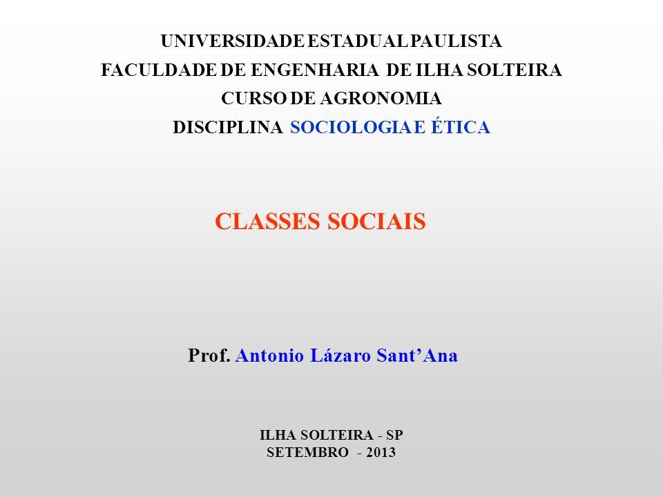CLASSES SOCIAIS Prof. Antonio Lázaro Sant'Ana