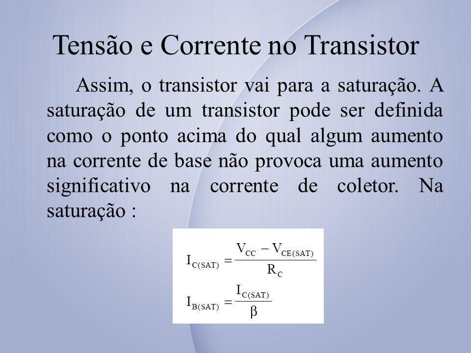 Tensão e Corrente no Transistor