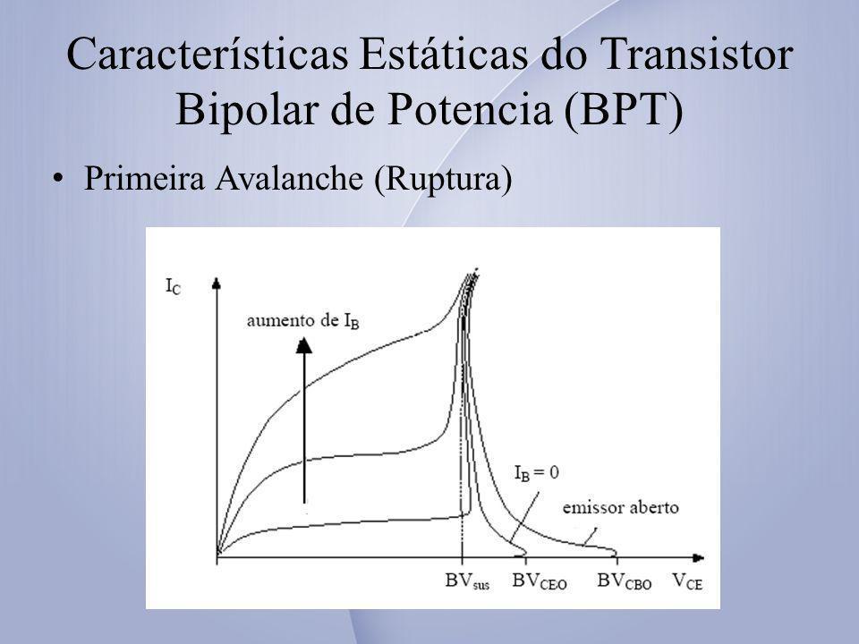 Características Estáticas do Transistor Bipolar de Potencia (BPT)