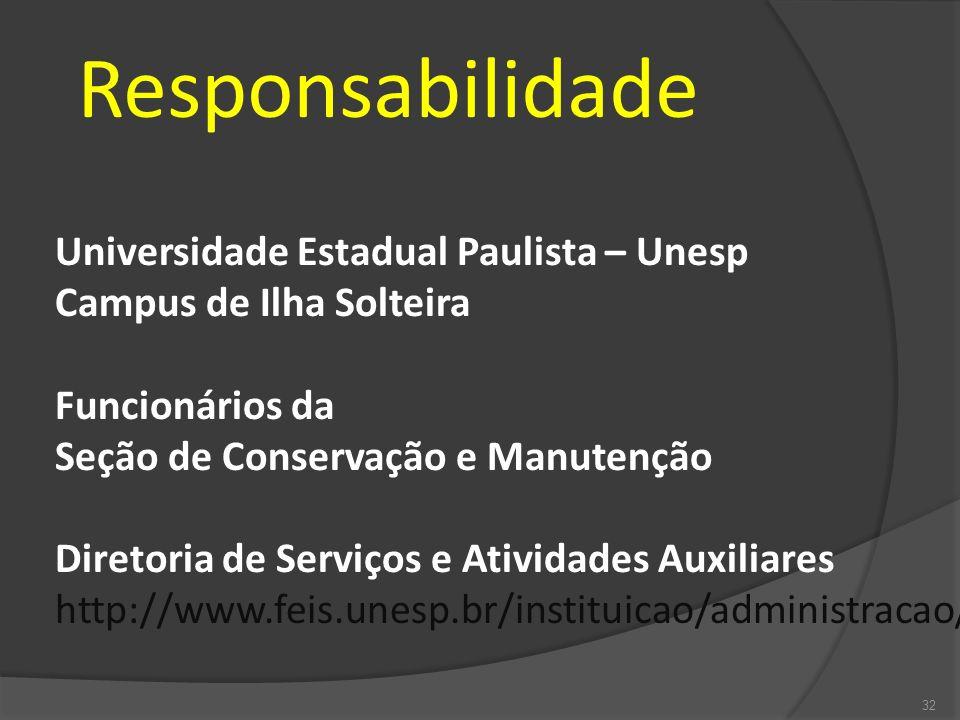 Responsabilidade Universidade Estadual Paulista – Unesp