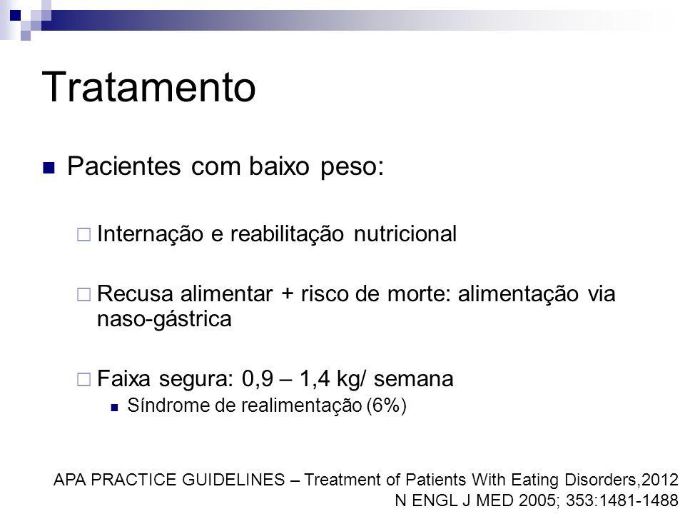 Tratamento Pacientes com baixo peso: