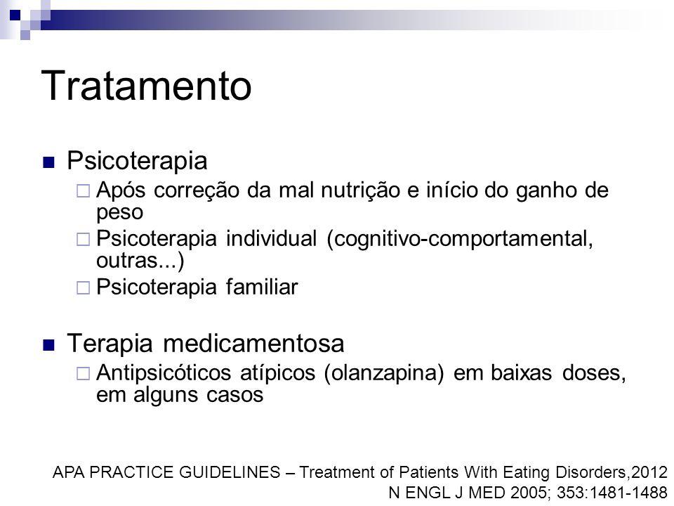 Tratamento Psicoterapia Terapia medicamentosa