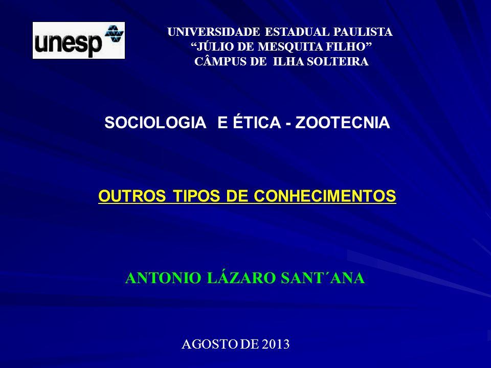 SOCIOLOGIA E ÉTICA - ZOOTECNIA
