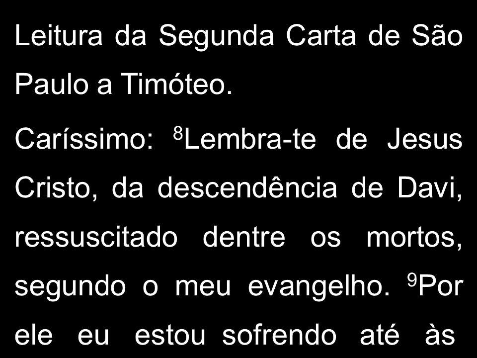 Leitura da Segunda Carta de São Paulo a Timóteo.