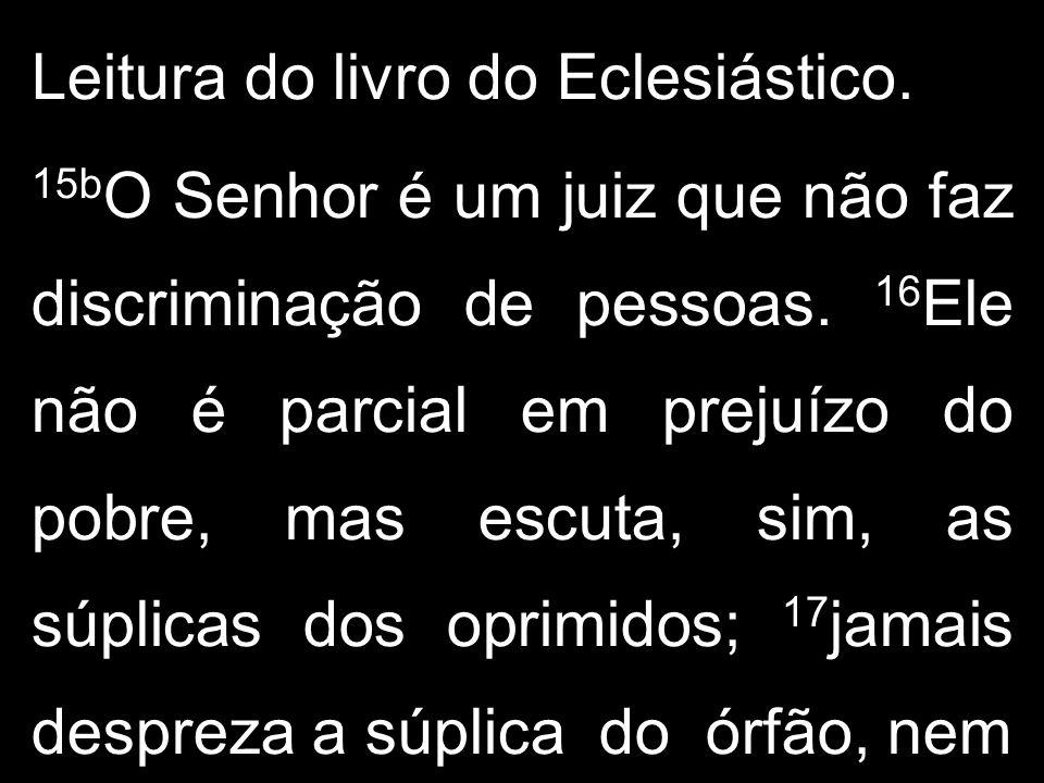 Leitura do livro do Eclesiástico.