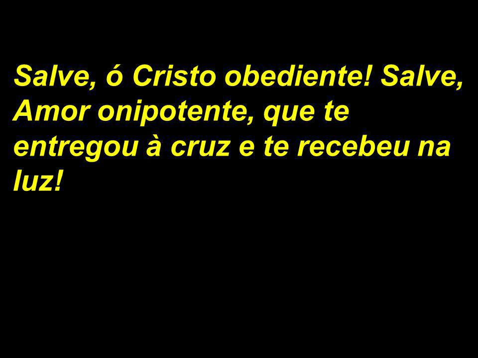 Salve, ó Cristo obediente