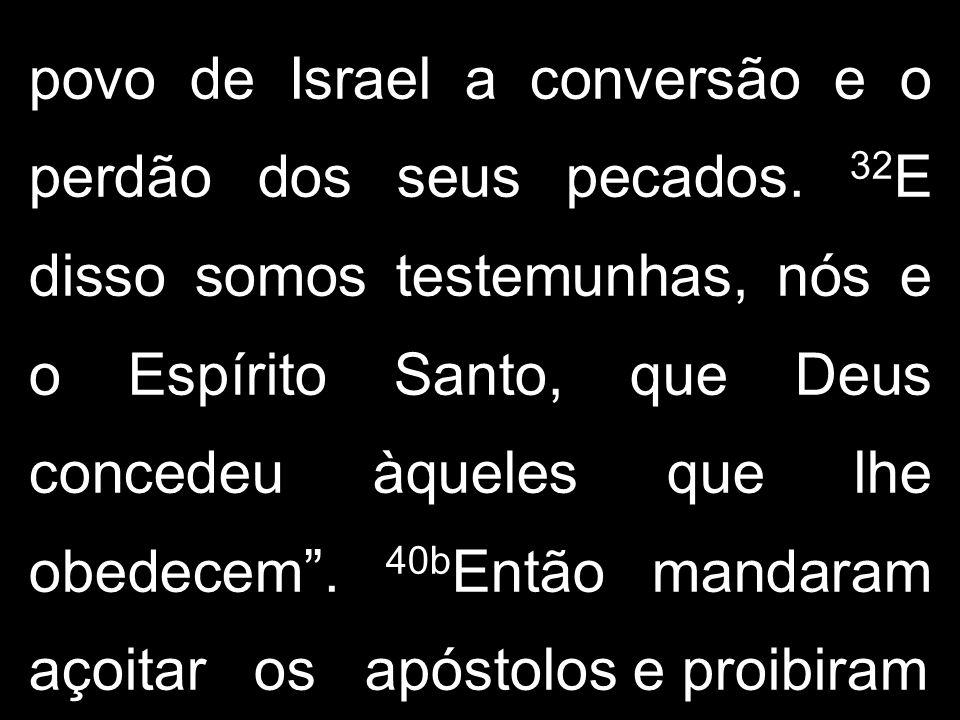 povo de Israel a conversão e o perdão dos seus pecados