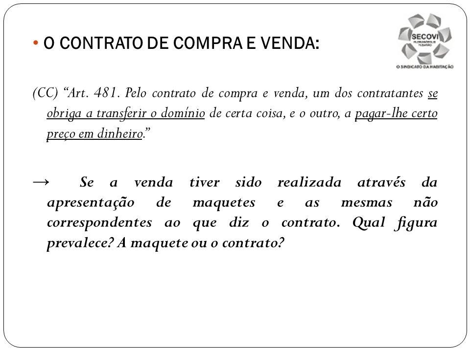 O CONTRATO DE COMPRA E VENDA: