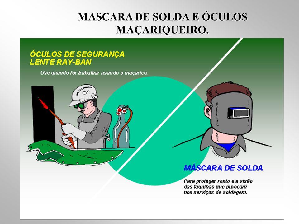 MASCARA DE SOLDA E ÓCULOS MAÇARIQUEIRO.