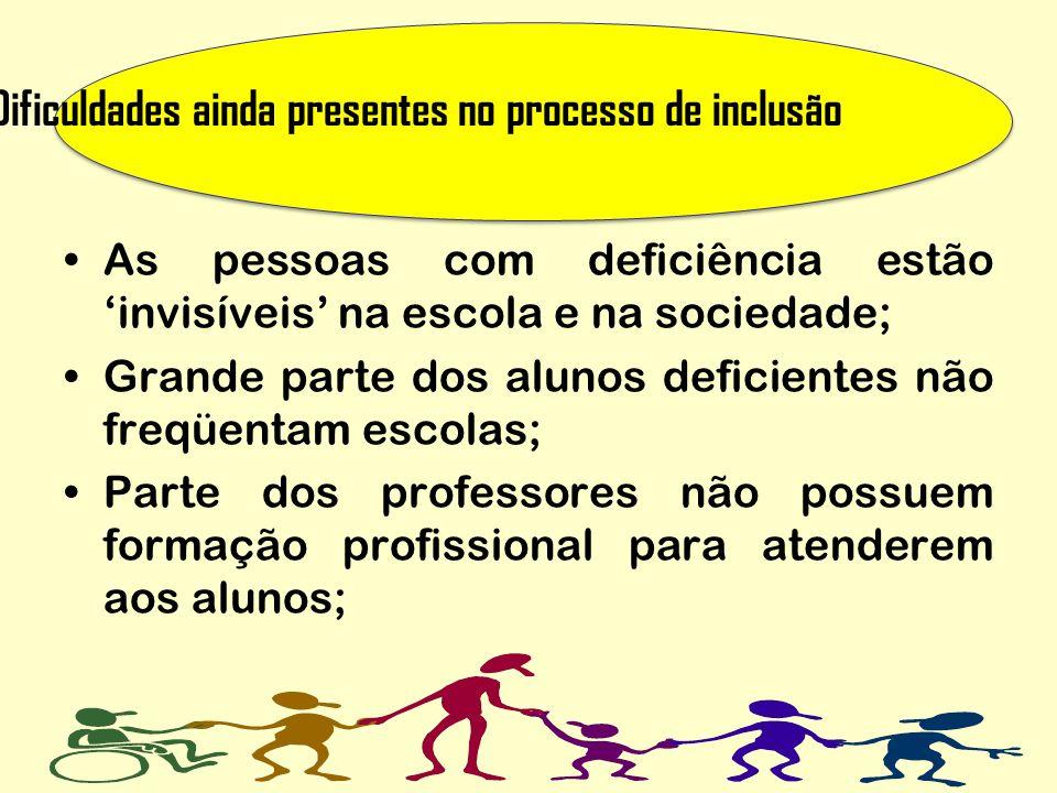 Dificuldades ainda presentes no processo de inclusão