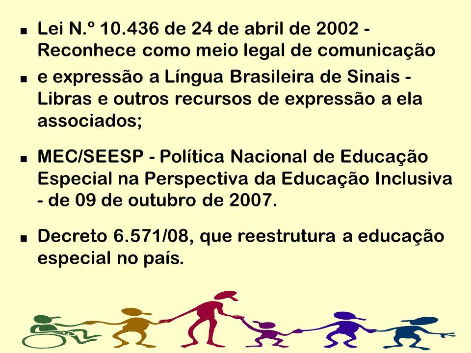 Lei N.º 10.436 de 24 de abril de 2002 - Reconhece como meio legal de comunicação