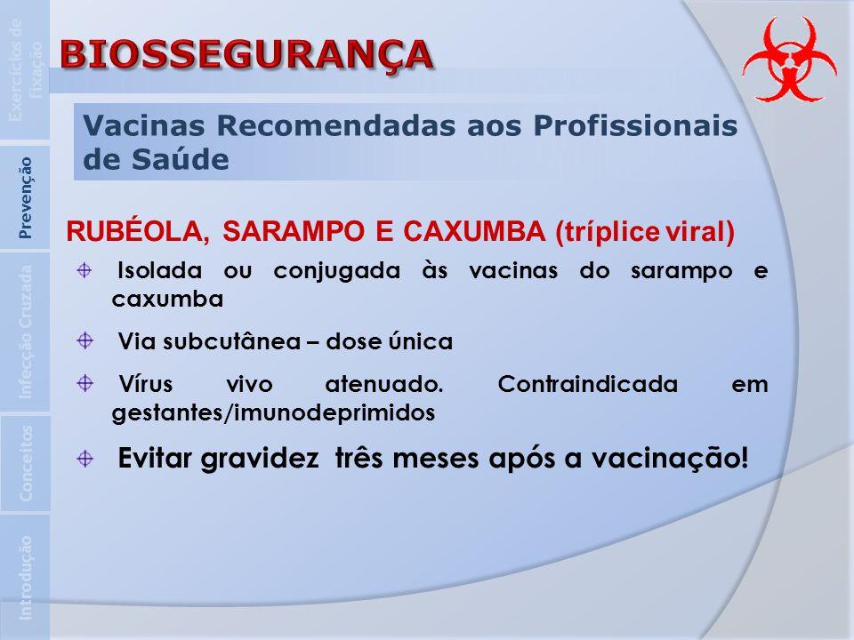 RUBÉOLA, SARAMPO E CAXUMBA (tríplice viral)
