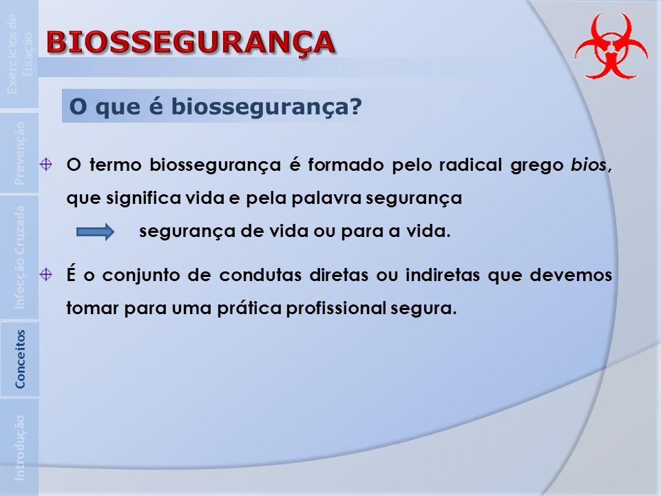 BIOSSEGURANÇA O que é biossegurança