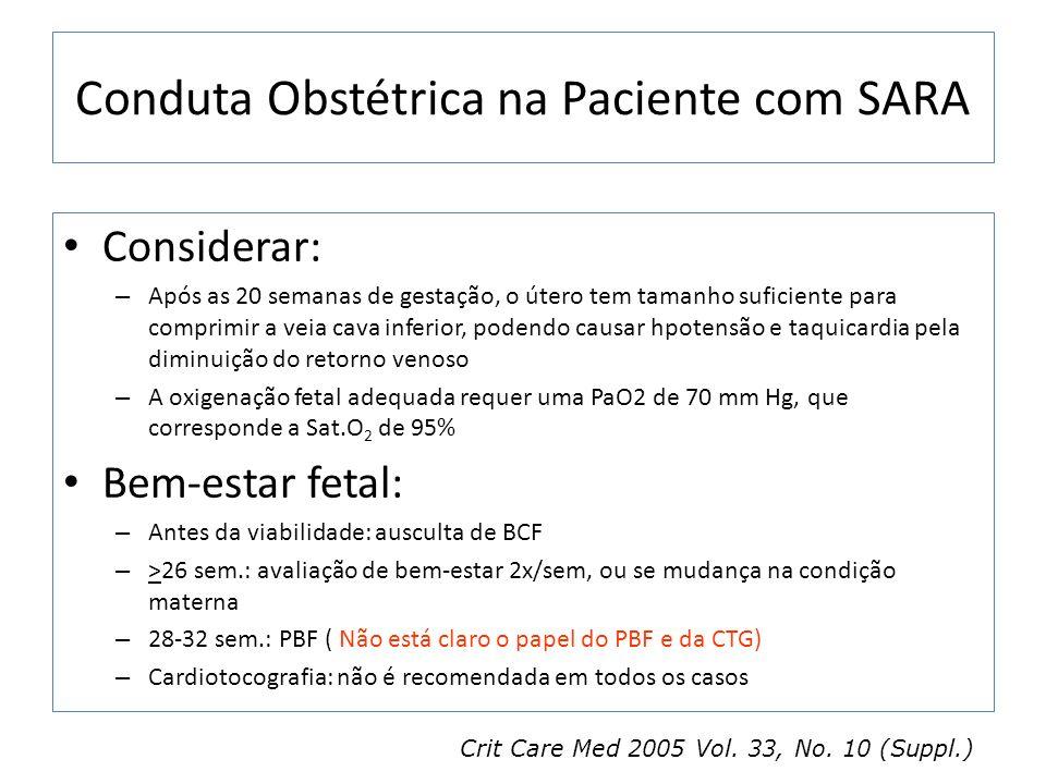 Conduta Obstétrica na Paciente com SARA