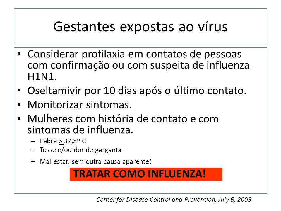 Gestantes expostas ao vírus