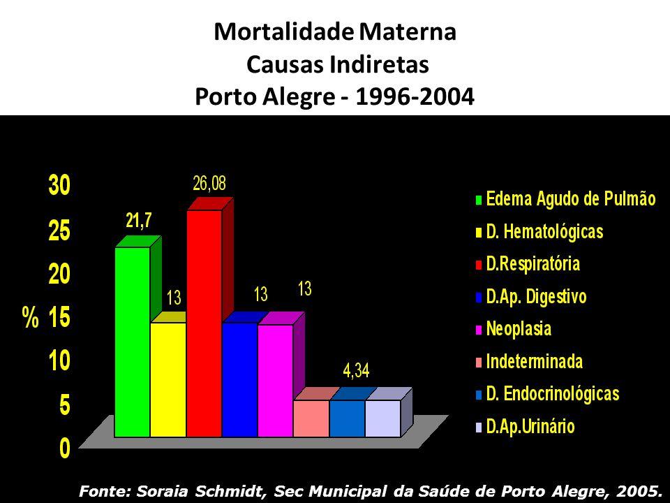 Mortalidade Materna Causas Indiretas Porto Alegre - 1996-2004