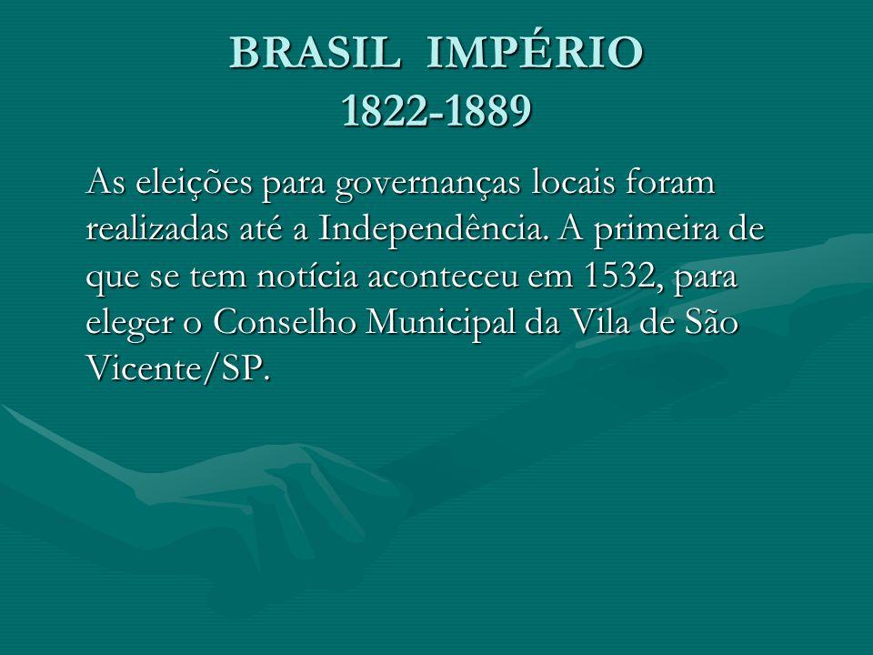BRASIL IMPÉRIO 1822-1889