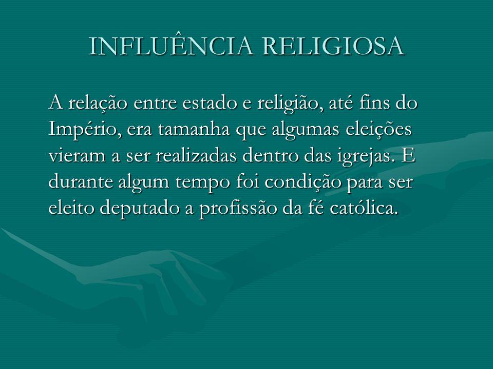 INFLUÊNCIA RELIGIOSA