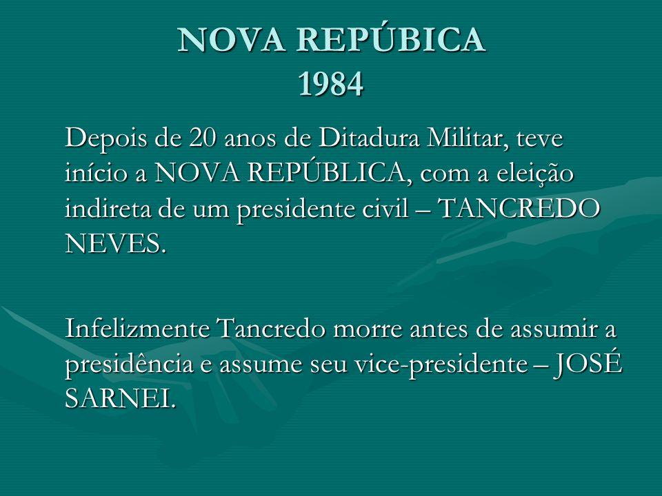 NOVA REPÚBICA 1984