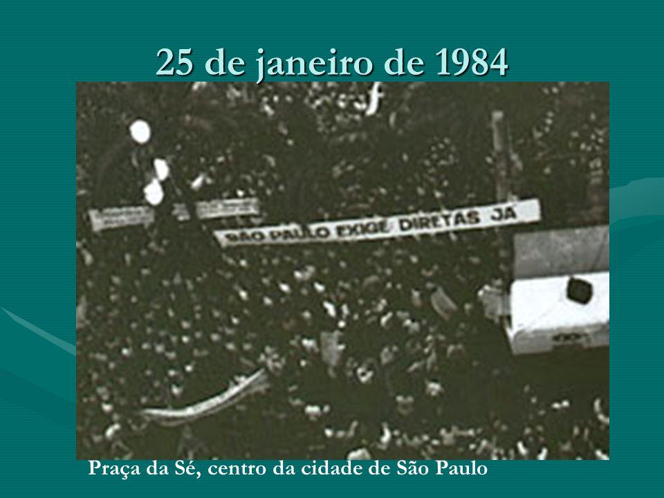 25 de janeiro de 1984 Praça da Sé, centro da cidade de São Paulo
