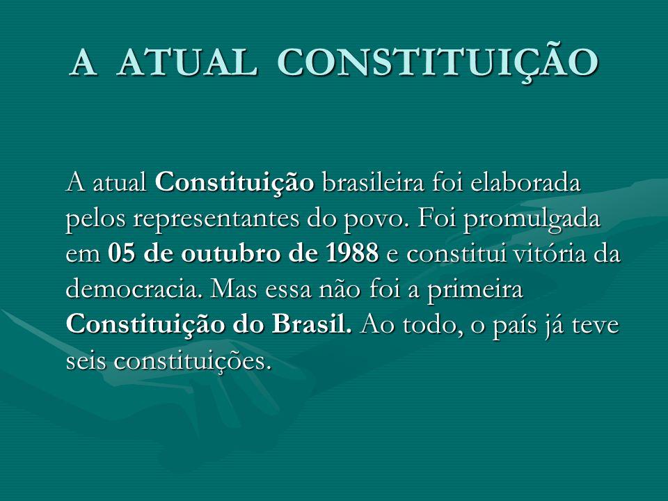 A ATUAL CONSTITUIÇÃO