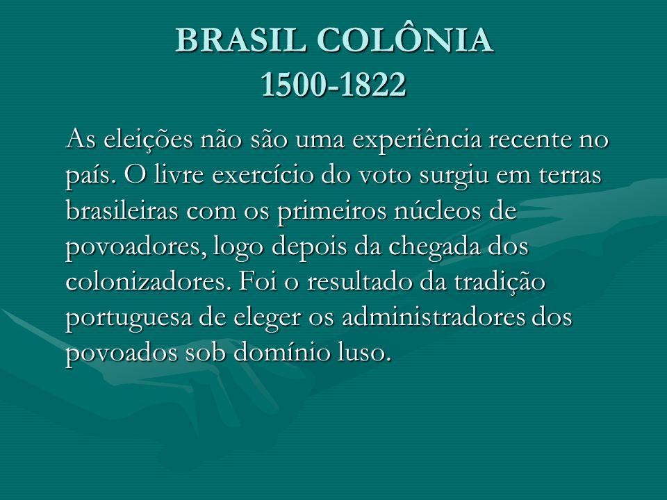 BRASIL COLÔNIA 1500-1822
