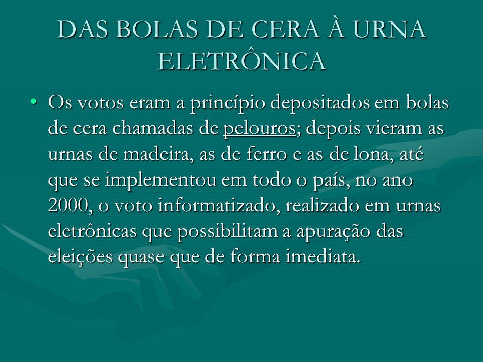 DAS BOLAS DE CERA À URNA ELETRÔNICA