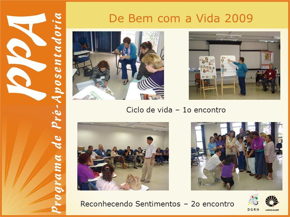 De Bem com a Vida 2009 Ciclo de vida – 1o encontro