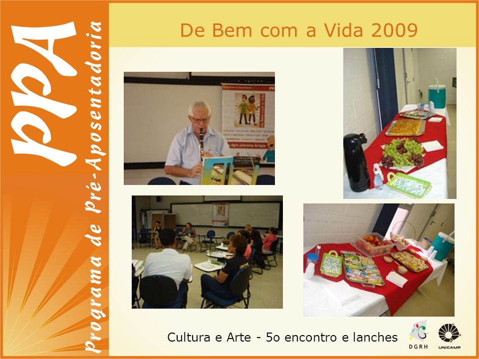 Cultura e Arte - 5o encontro e lanches