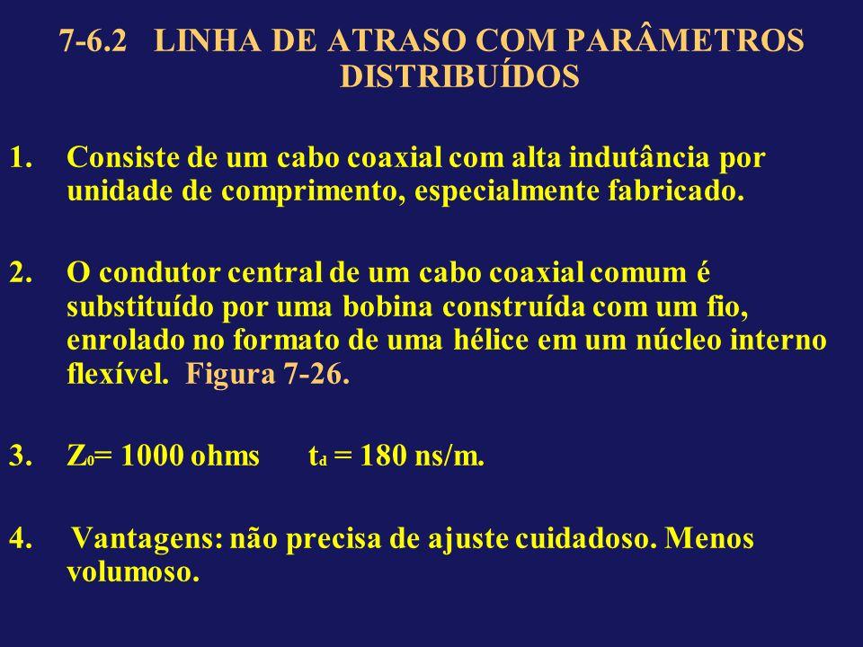 7-6.2 LINHA DE ATRASO COM PARÂMETROS DISTRIBUÍDOS