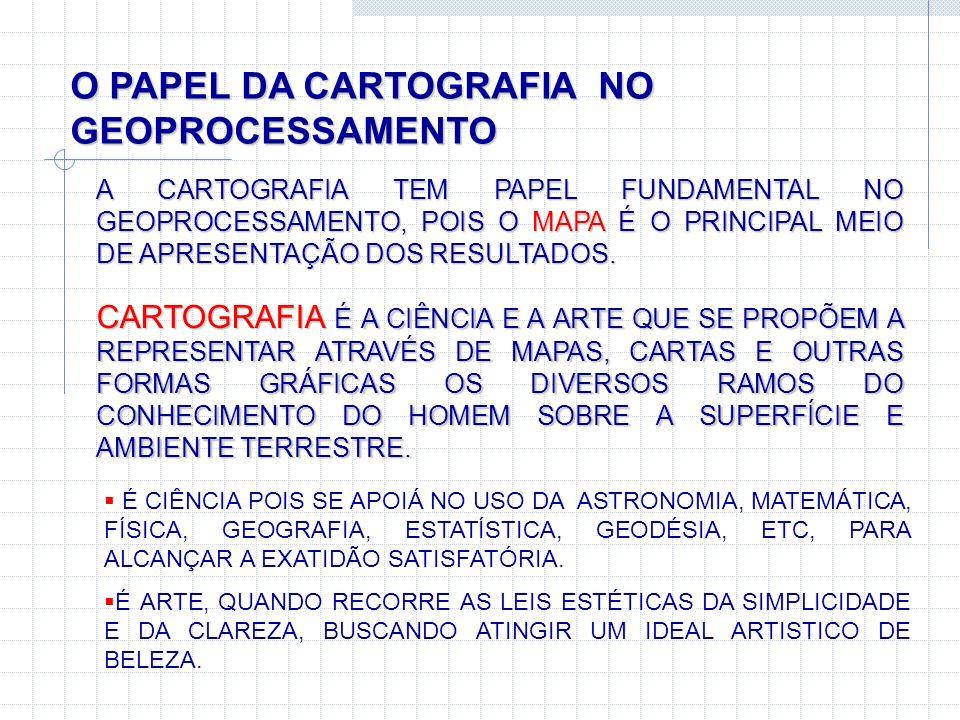 O PAPEL DA CARTOGRAFIA NO GEOPROCESSAMENTO