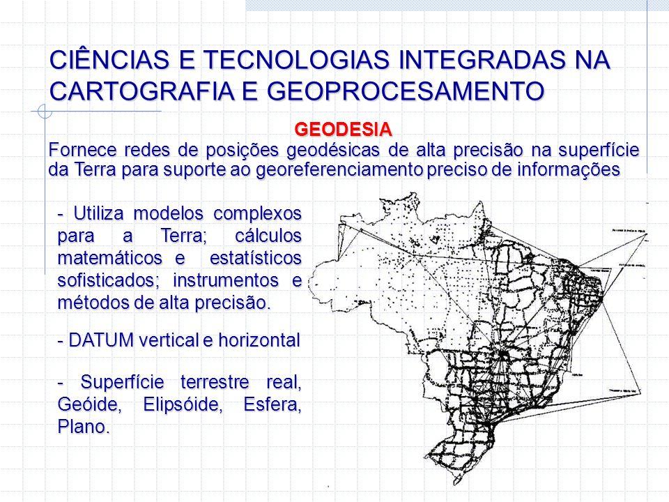 CIÊNCIAS E TECNOLOGIAS INTEGRADAS NA CARTOGRAFIA E GEOPROCESAMENTO