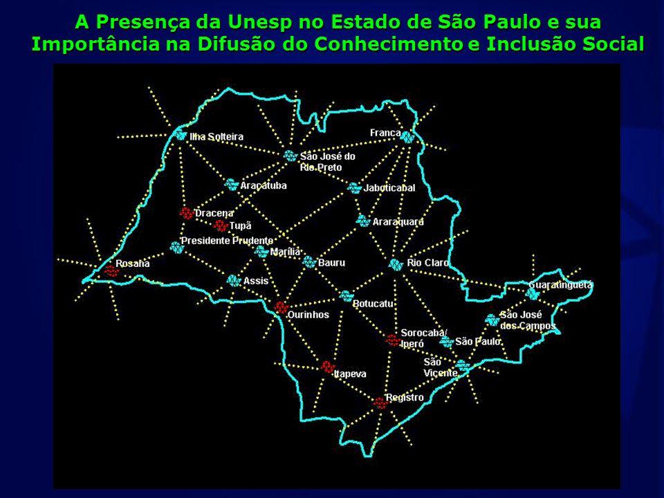 A Presença da Unesp no Estado de São Paulo e sua Importância na Difusão do Conhecimento e Inclusão Social