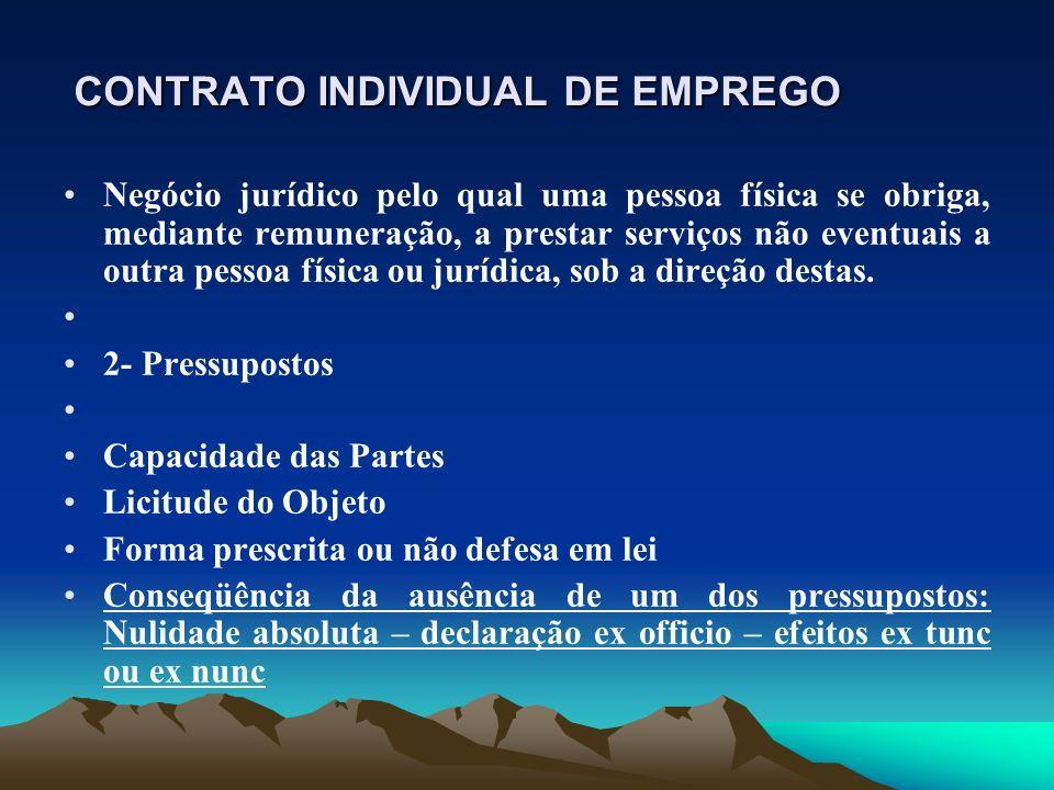 CONTRATO INDIVIDUAL DE EMPREGO